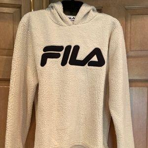 Fila Sherpa pullover hoodie